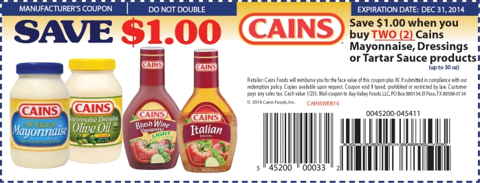 http://www.cainsfoods.com/cainscoupon/coupon.php