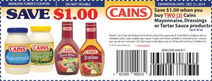 http://www.cainsfoods.com/cainscoupon/coupon.php