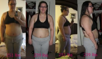 Comparison photos early on in my weight loss journey.