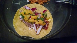 The mango salsa on this taco says I really, really like you.