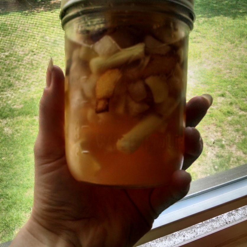 Ginger Lemongrass Asian Pear ready for the fridge.