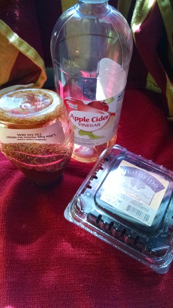 Honey Blackberry Shrub Ingredients