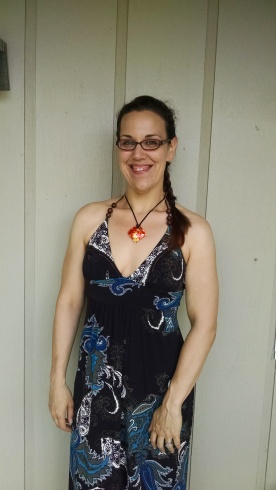 I looked purty. (Also? The dress is secondhand and FREE.)