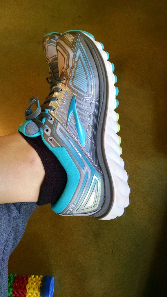 The first pair I tried on: Brooks.