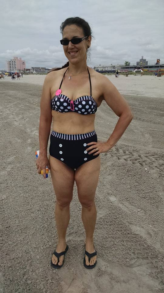Taken August 10, 2015. Wearing this down the shore was one of the most terrifying things I've done. A glance along the beach, though, calmed my fears. Just wear what you want!