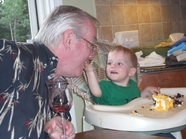 My dad with my nephew Adam in 2009.