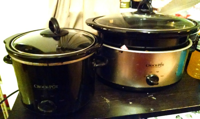 Two of my most abused Crockpots.