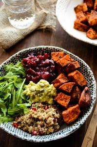 IMAGE COURTESY http://blissfulbasil.com/2014/10/30/grab-n-go-sweet-potato-cranberry-quinoa-power-bowl/
