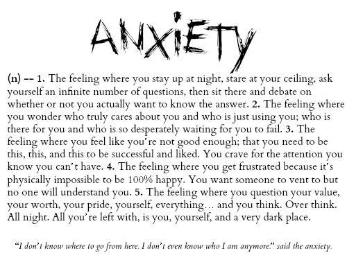 Anxiety Sucks