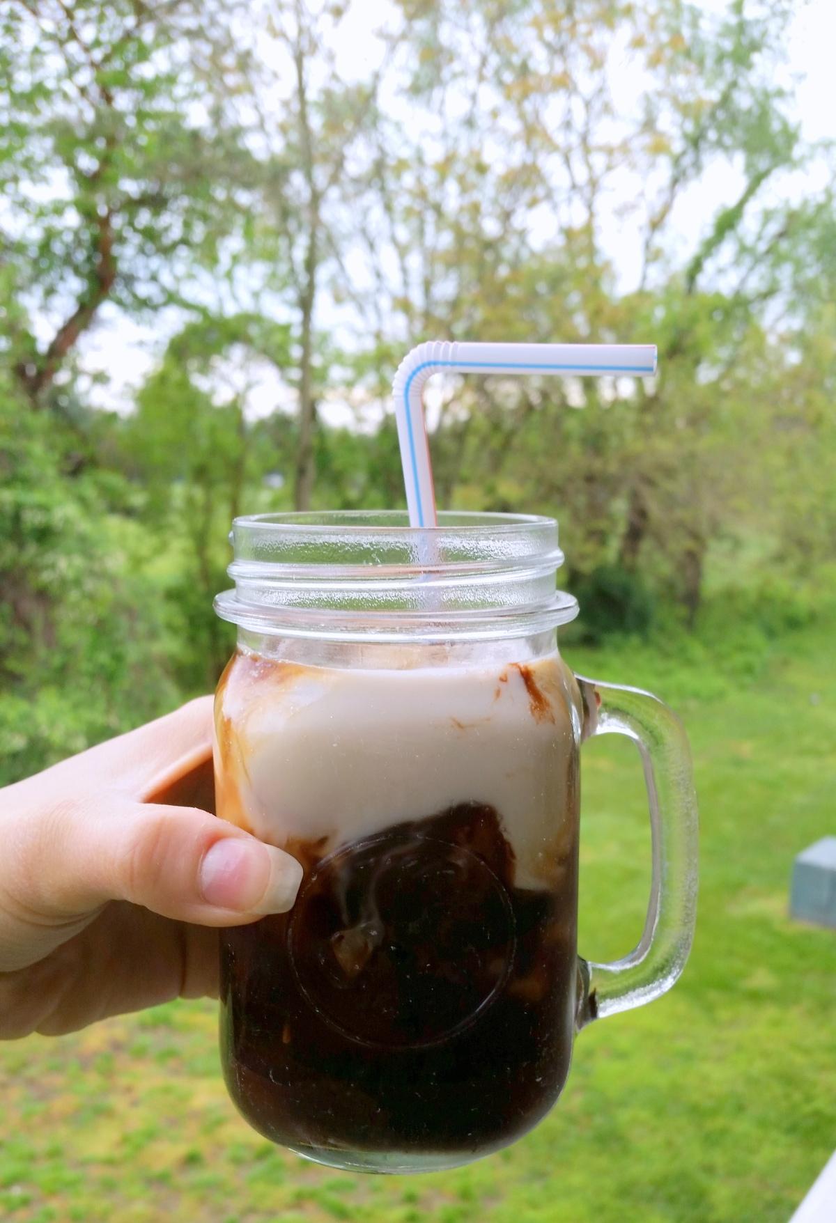Cold Brew Iced Coffee Plus Iced HazelnutMocha