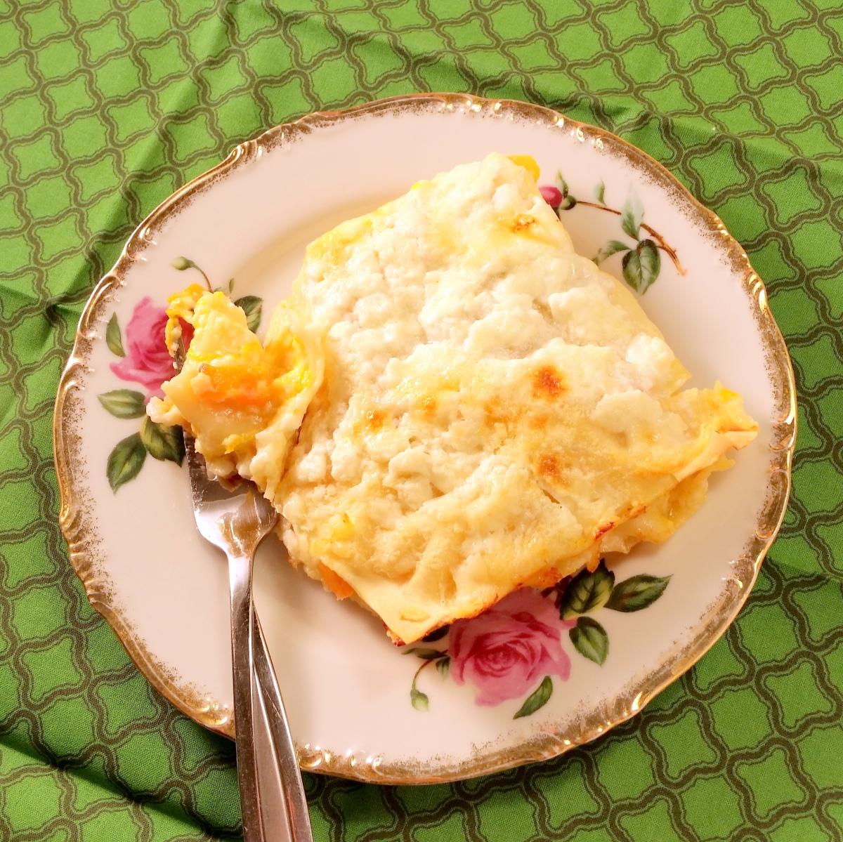 Recipe: Lighter Butternut SquashLasagna
