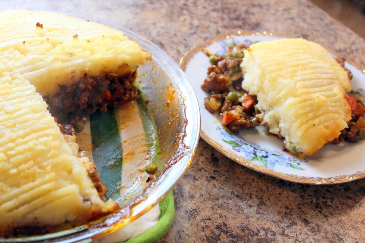 Recipe: Cottage Pie w/Mushrooms